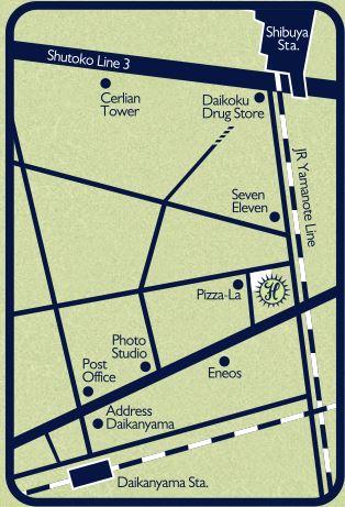 カフェハバナ東京地図